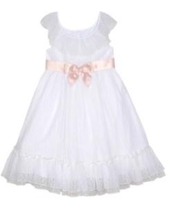 Laura Ashley Toddler Girls Ruffle Neck Dress with Sash