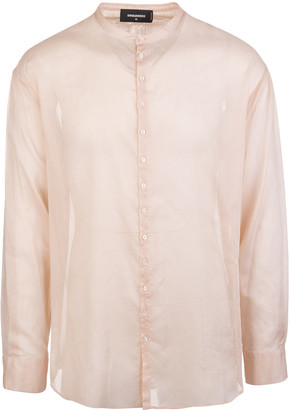 DSQUARED2 Cotton Voile Dropped Military Shirt