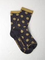 White Stuff Sparkle mixed spot sock