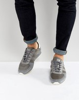 BOSS ORANGE by Hugo Boss Nylon and Suede Sneakers Gray