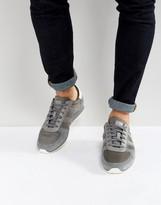 BOSS ORANGE By Hugo Boss Nylon And Suede Sneakers Grey