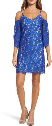 Chelsea28 Cold Shoulder Lace Shift Dress