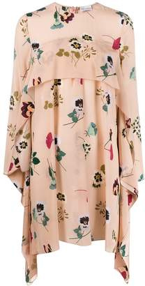RED Valentino floral print draped dress