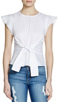 Lucy Paris Belted Ruffle Sleeve Top - 100% Exclusive