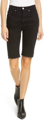 Frame Le Vintage High Waist Raw Edge Bermuda Shorts