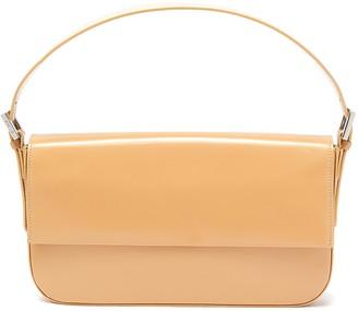 BY FAR 'Manu' semi patent leather baguette shoulder bag