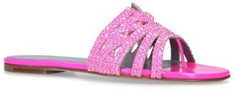 Gina Crystal-Embellished Loren Slides