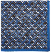 Luciano Barbera MEN'S ABSTRACT-DIAMOND-PRINT SILK POCKET SQUARE