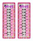 Tara Girls Twinbead Multi Cute Design Ponytail Elastics Pack of 2 Selection (BT22)