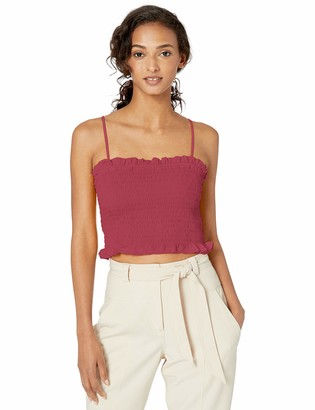 BCBGeneration Women's Smocked Cropped Top