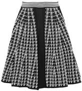 Emilio Pucci Fluted Jacquard-Knit Skirt