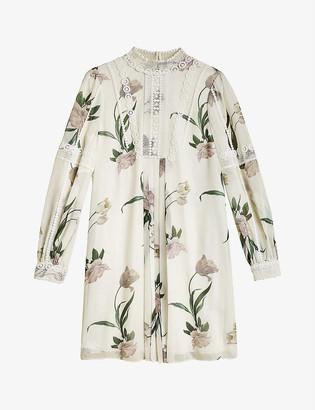 Ted Baker Elderflower floral-print crepe mini dress