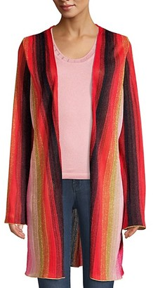 M Missoni Striped Lurex Open-Front Cardigan