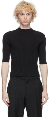 Dion Lee Black Lustrate Raglan T-Shirt