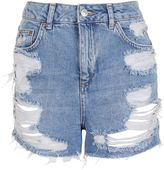 Topshop PETITE Ripped Mom Shorts