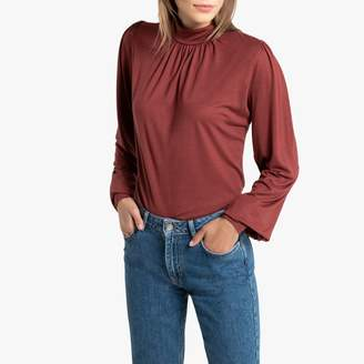 La Redoute Collections High-Neck T-Shirt with Long Sleeves