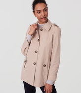 LOFT Back Pleat Trench
