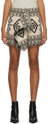 Etoile Isabel Marant Black and Off-White Jiloa Miniskirt
