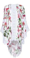Andrew Gn Flutter Sleeve Floral Dress
