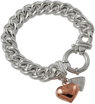 Mocha Small Mama Bracelet w/ Rose Gold Puffy Heart
