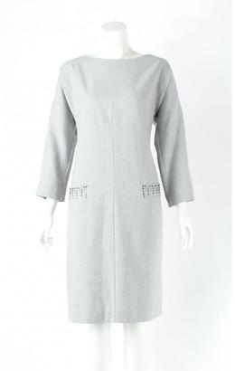 Philosophy di Alberta Ferretti Grey Wool Dresses