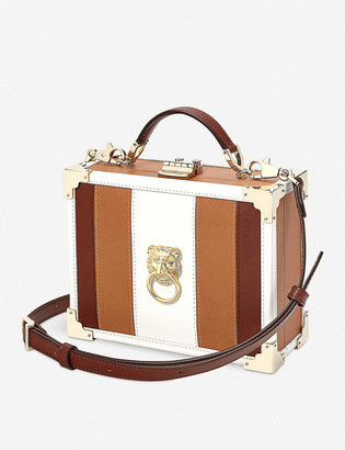 Aspinal of London Lion trunk leather clutch bag