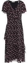 Joie Orita B Wrap-effect Floral-print Silk-georgette Midi Dress