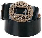 Roberto Cavalli Embellished Patent Leather Belt