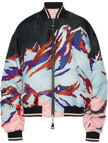 Emilio Pucci Reversible Printed Faille And Shell Down Bomber Jacket - Black