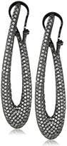 Noir Pave Encrusted Loop Earrings