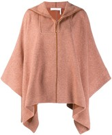 See by Chloe Poncho Style Brushed Fleece