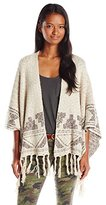 Billabong Juniors Desert Voyage Poncho Jacquard Sweater