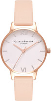 Olivia Burton OB16MDW21 rose gold-plated and leather watch