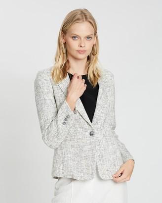 Marcs Neutral Tweed Jacket