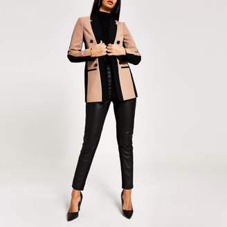 River Island Womens Dark Beige colour blocked blazer