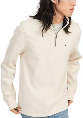 Tommy Hilfiger Men French Rib Quarter-Zip Pullover