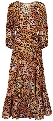 Anna Kosturova Exclusive to Mytheresa Leopard-print silk midi dress