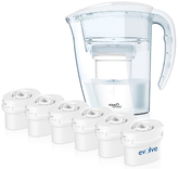 Aqua Optima 2.25L White Galia Water Filter Jug with 6 x 60 Day Evolve Filter Cartridges (12 Month Bundle)