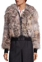 Saint Laurent Ocelot Print Fur Bomber Jacket