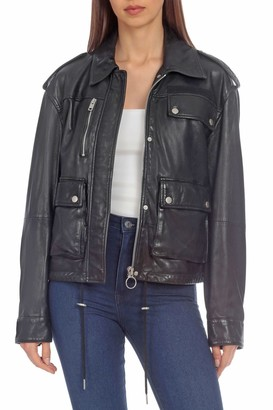 Bagatelle NYC Lamb Leather Army Jacket
