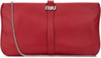 Miu Miu Logo Detail Clutch Bag