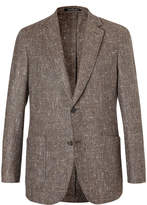 Richard James Brown Slim-Fit Slub Silk, Wool and Cashmere-Blend Blazer