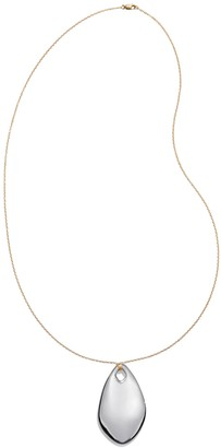 Tory Burch Sterling Silver Wavy Pendant Necklace