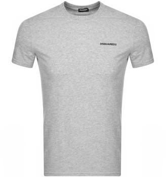 DSQUARED2 Logo Short Sleeved T Shirt Grey