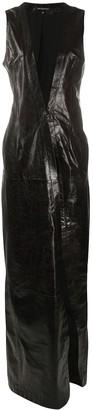 Ann Demeulemeester Sleeveless Maxi Leather Coat