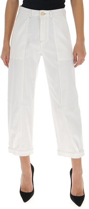 See by Chloe Panelled Cropped Jeans