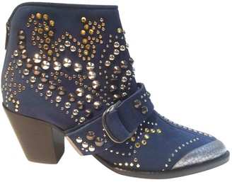 Zadig & Voltaire Blue Suede Ankle boots