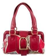 Celine Leather-Trimmed Shoulder Bag