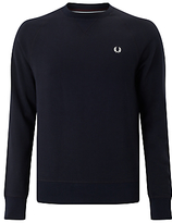 Fred Perry Loopback Crew Neck Sweater, Navy