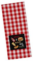 Design Imports Ketchup and Mustard Embroirdered Dish Towel